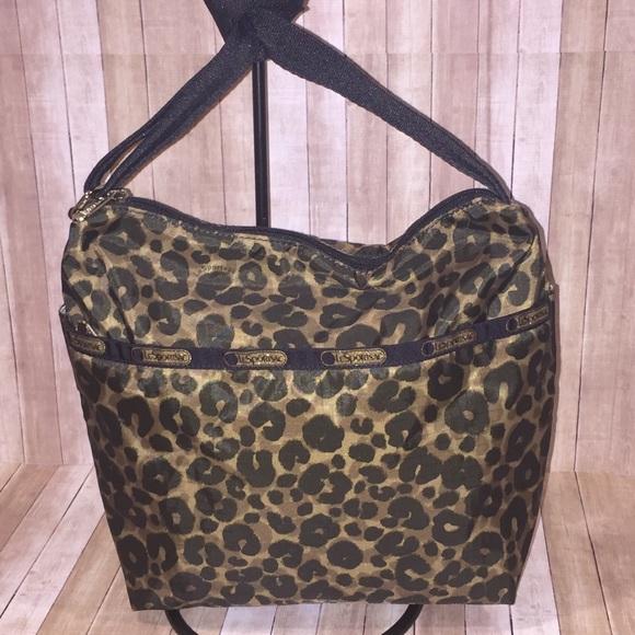 53d20baad3 Lesportsac Handbags - Lesportsac Small Cleo Army Cheetah Camo Xbody Bag